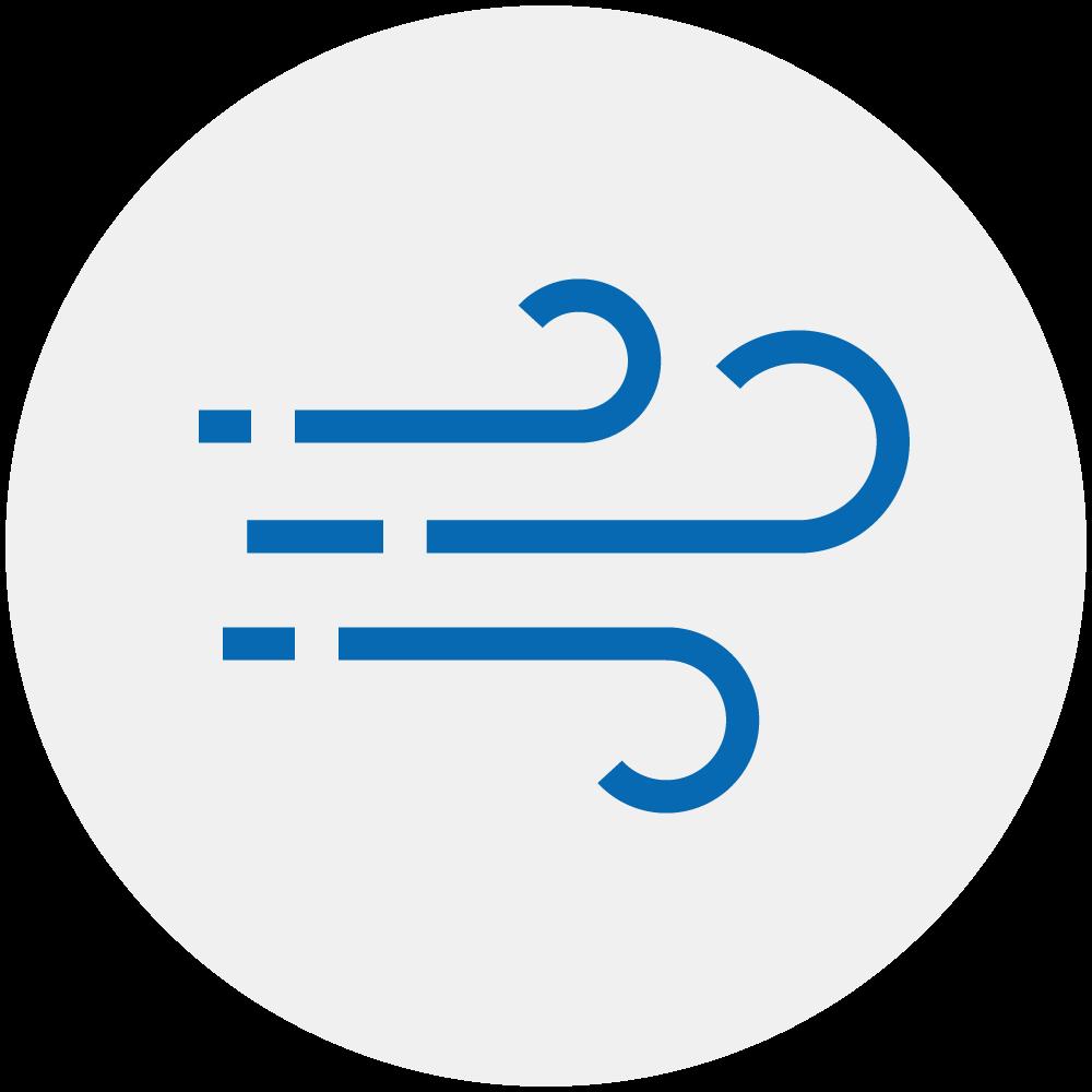 Icon Regelung der Lüftung, zB abhängig vom CO2-Wert